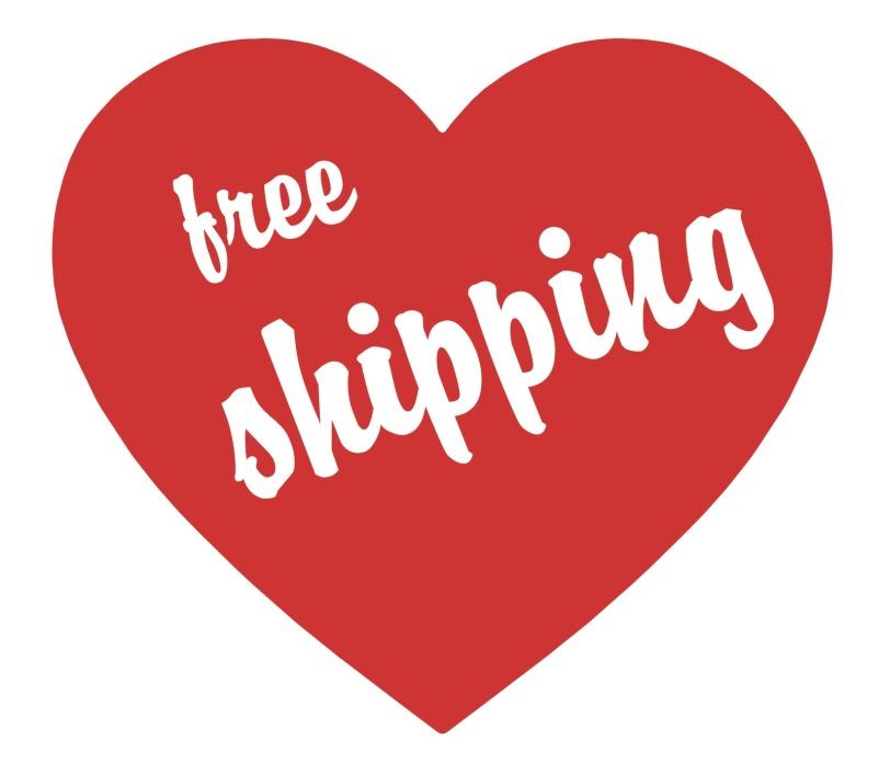 free shipping heart